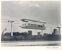 Goodell Monorail, 1963 -- The coaches on the proposed monorail took design cues from the Cadillacs of the time.