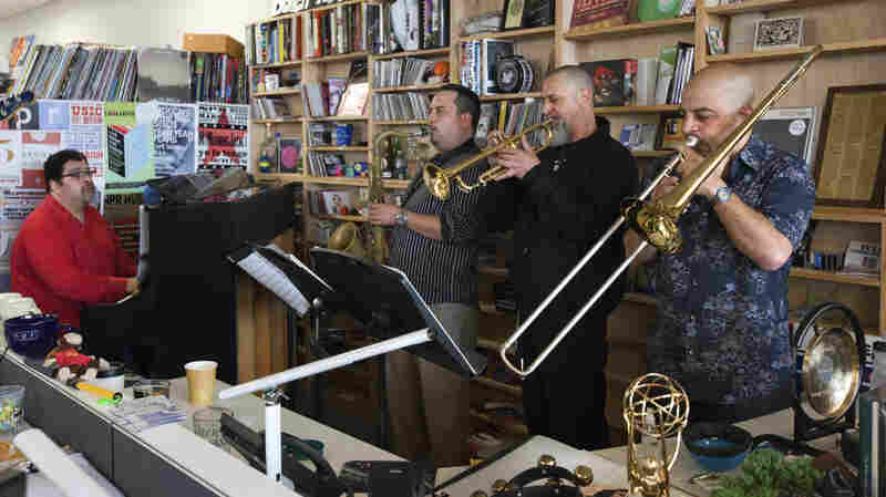 The Arturo O'Farrill Octect performs a Tiny Desk Concert in June 2013.