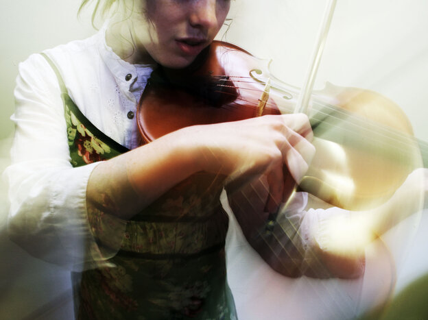 Person playing music