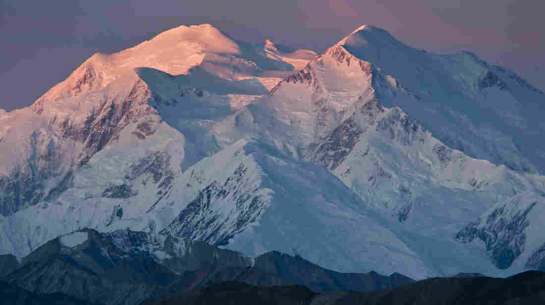Mount McKinley. There's a bit less of it than we thought.