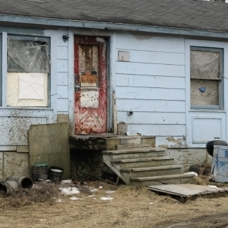 A house in poverty.