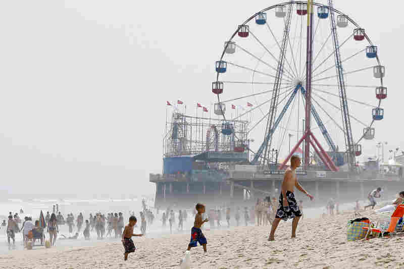 Seaside Heights is a popular beach destination on the Jersey Shore where beachgoers, like these, in 2010, go to escape the heat.