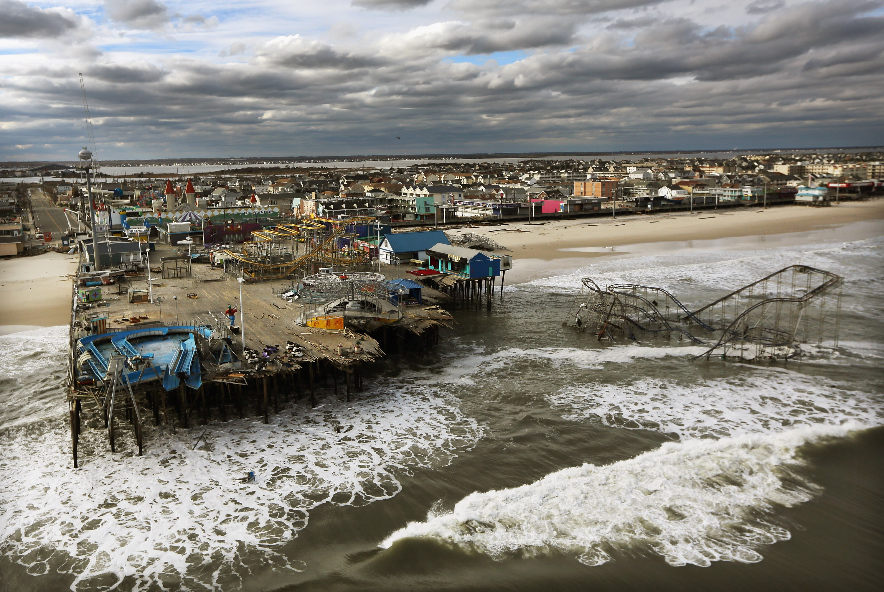 Superstorm Sandy destroyed some attractions and part of the city's famed boardwalk in October 2012.