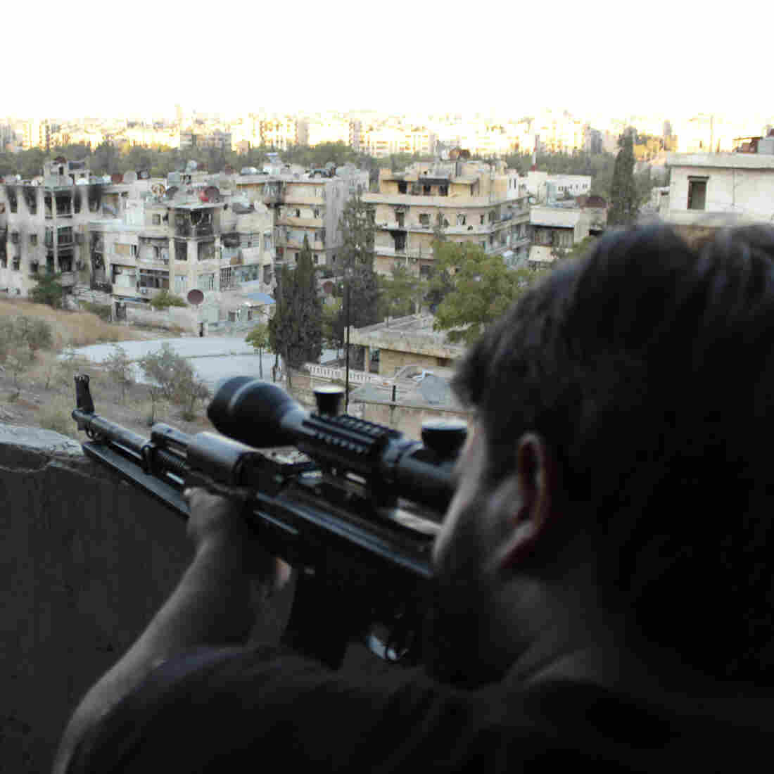 As Talks Continue, CIA Gets Some Weapons To Syrian Rebels