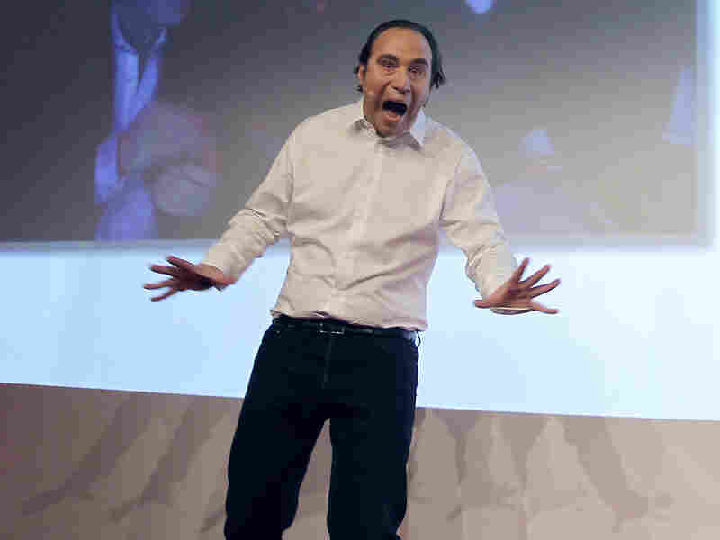 Xavier Niel, the French Internet billionaire and founder of the Internet provider Free, reacts after delivering his speech in January 2012. Niel has founded a new computer school in Paris named 42.