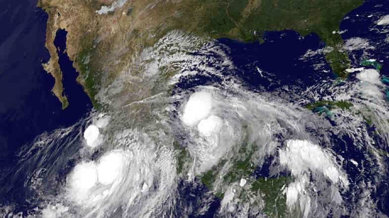 An image provided by NOAA tak