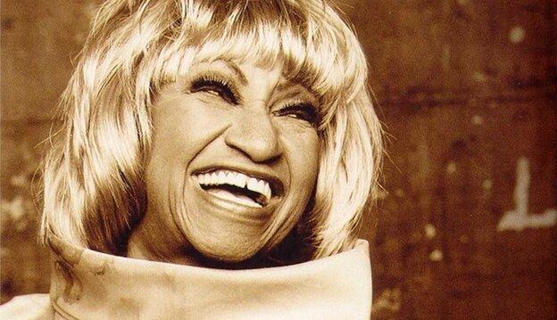 Celia Cruz, the queen of salsa.