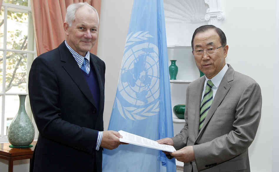 U.N. Secretary-General Ban Ki-moon, who received the report on