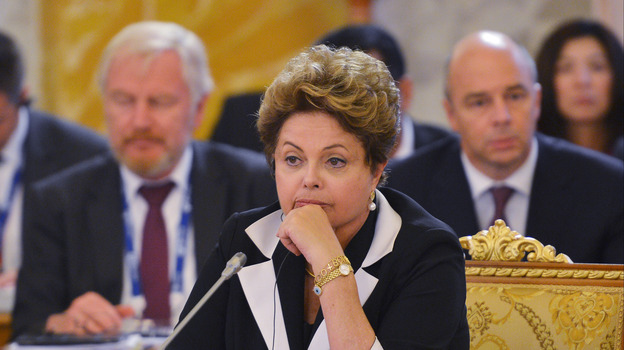 Brazilian President Dilma Rousseff attends the first working meeting of the G-20 summit in St. Petersburg, Russia, on Thursday. (Getty Images)