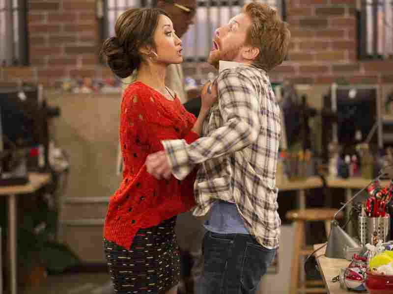 Brenda Song and Seth Green in Fox's Dads.