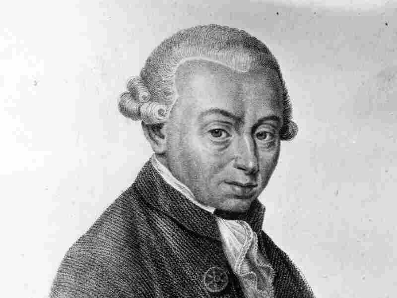 An artist's rendering of German philosopher Immanuel Kant.