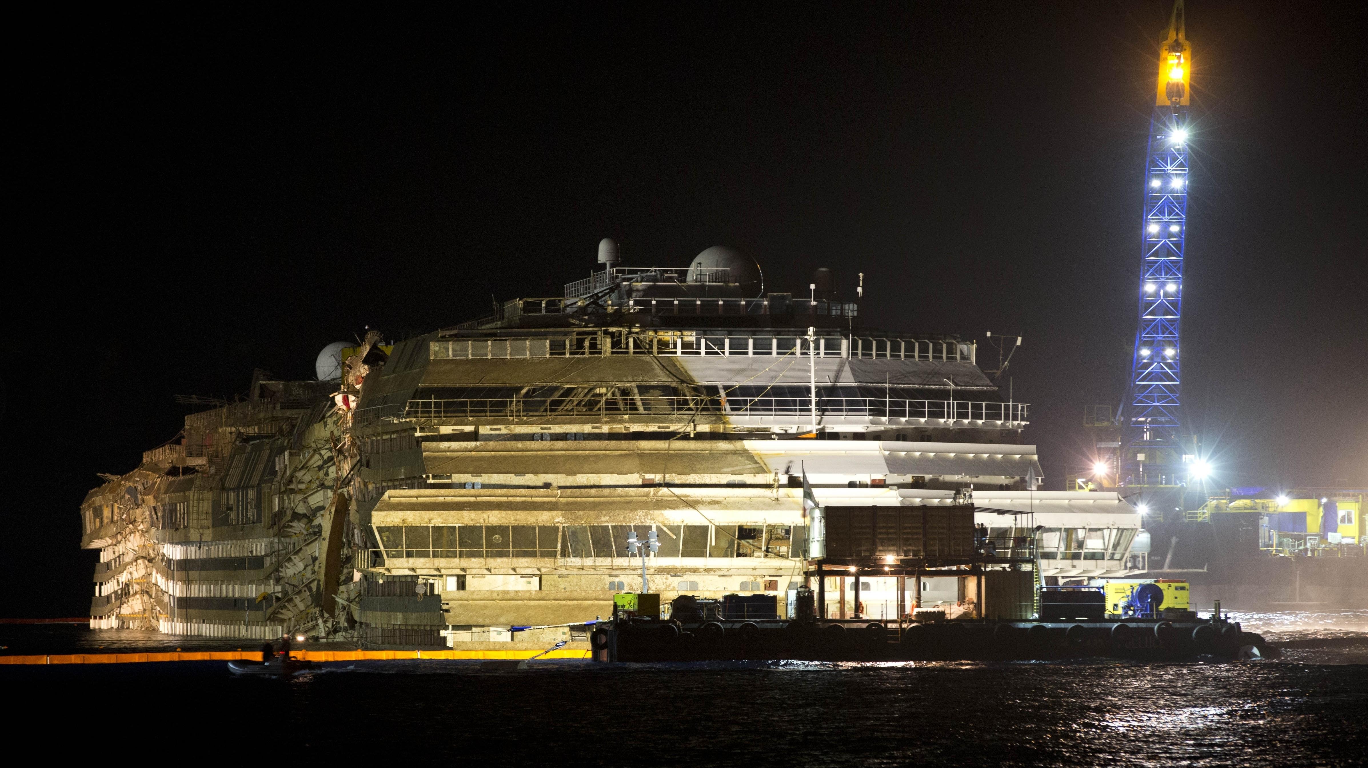 Mission Success: Costa Concordia Is Vertical