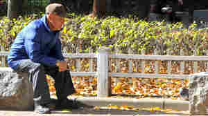 A man relaxes at a downtown park in Seoul. The pronounced demographic shift triggered by a plummeting birth rate and soaring life expectancy is seen as one of the greatest challenges facing Asia's fourth-largest economy.