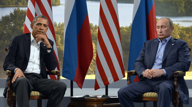 President Obama meets with Russian President Vladimir Putin in Northern Ireland on June 17. A new Gallup poll says Americans are increasingly viewing both Putin and R
