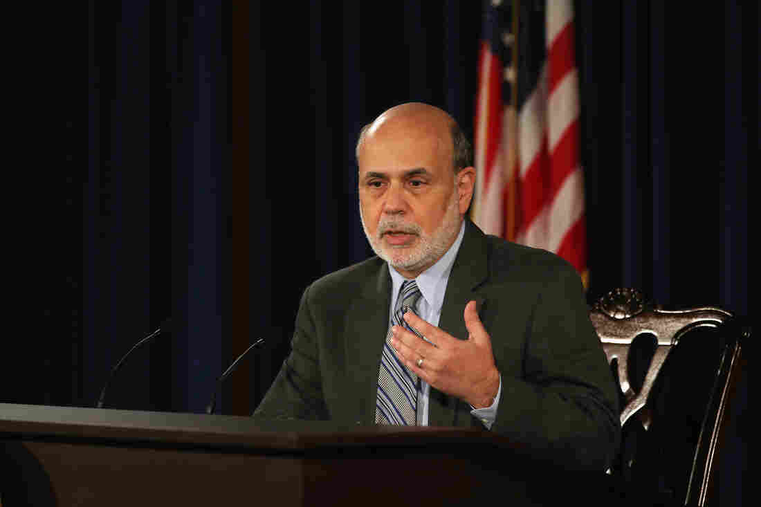 Federal Reserve Chairman Ben Bernanke speaks during a news conference at the Federal Reserve in Washington, D.C.