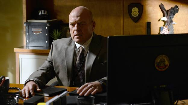 Breaking Bad, on which Dean Norris played DEA agent Hank Schrader, has two more episodes to go before its series finale. (AMC)