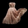 Rose Pompon silk dress by Dior. Spring-Summer 1952.