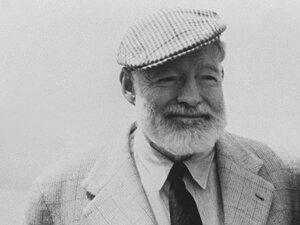 American writer Ernest Hemingway.