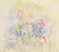 Berthe Morisot's 1890 watercolor Tulips.