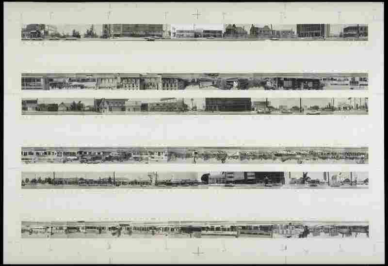 The Getty currently holds the archive for all of Ruscha'€™s Los Angeles street shoots (his negatives are estimated to number in the millions), including this hand-made mock-up of his iconic 1966 book, Every Building on the Sunset Strip.