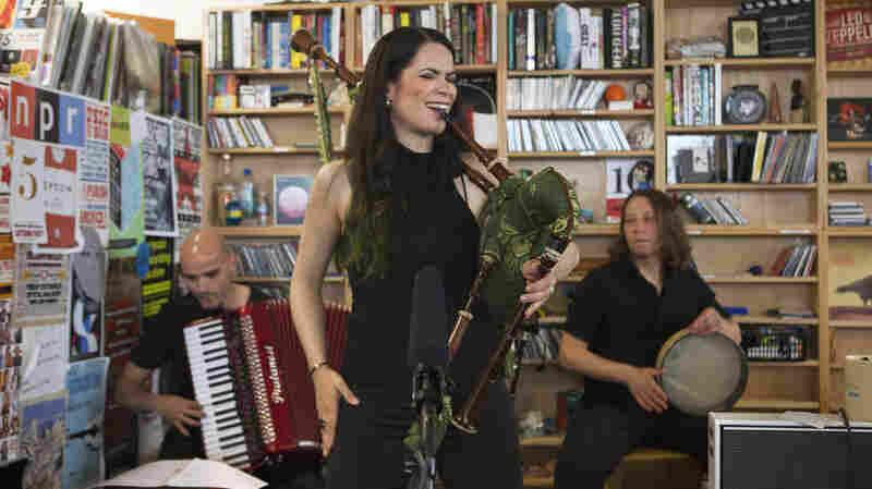 Cristina Pato Trio performs a Tiny Desk Concert in June 2013.