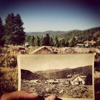 Elkhorn, Mont. - The trees are taller, the buildings are rubble, but the mountains are the same. This is where my Grandma grew up.