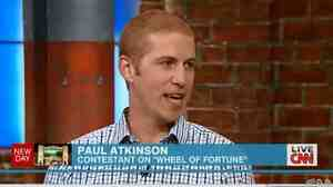 Paul Atkinson, the unfortunate Wheel of Fortune contestant, during his appearance Thursday on CNN's New Day.