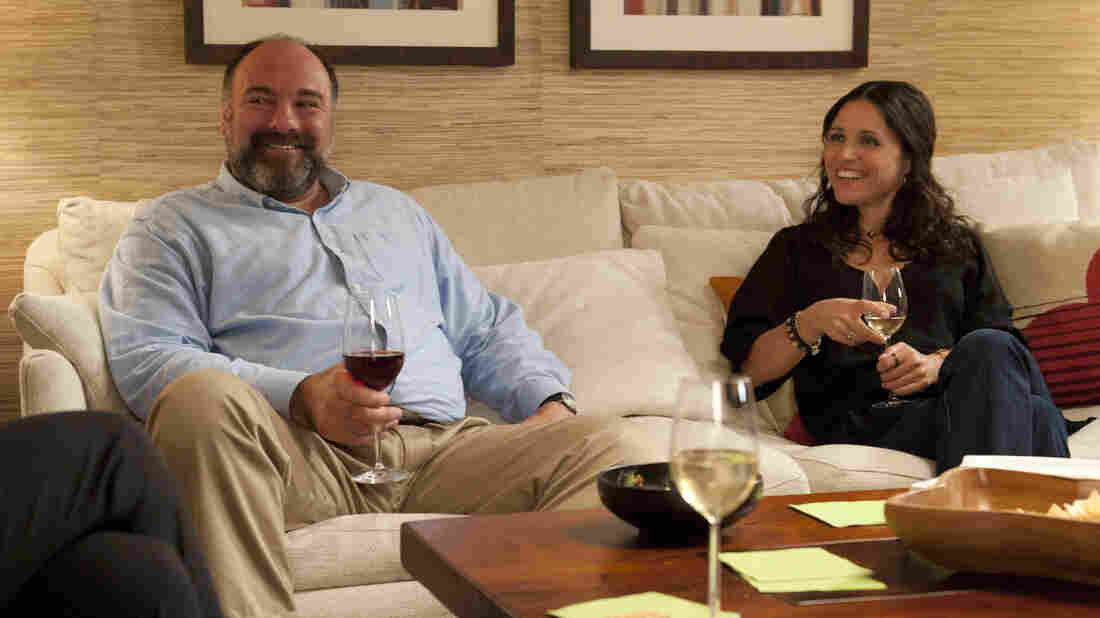 James Gandolfini plays a divorced TV archivist who falls in love with a divorced masseuse, played by Julia-Louis Dreyfus, in Nicole Holofcener'€™s Enough Said.