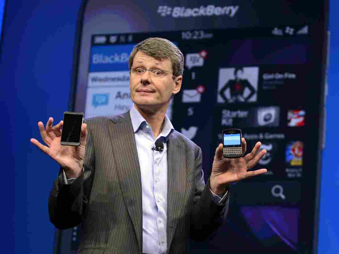 BlackBerry CEO Thorsten Heins officially unveils the Z10 smartphone in January.