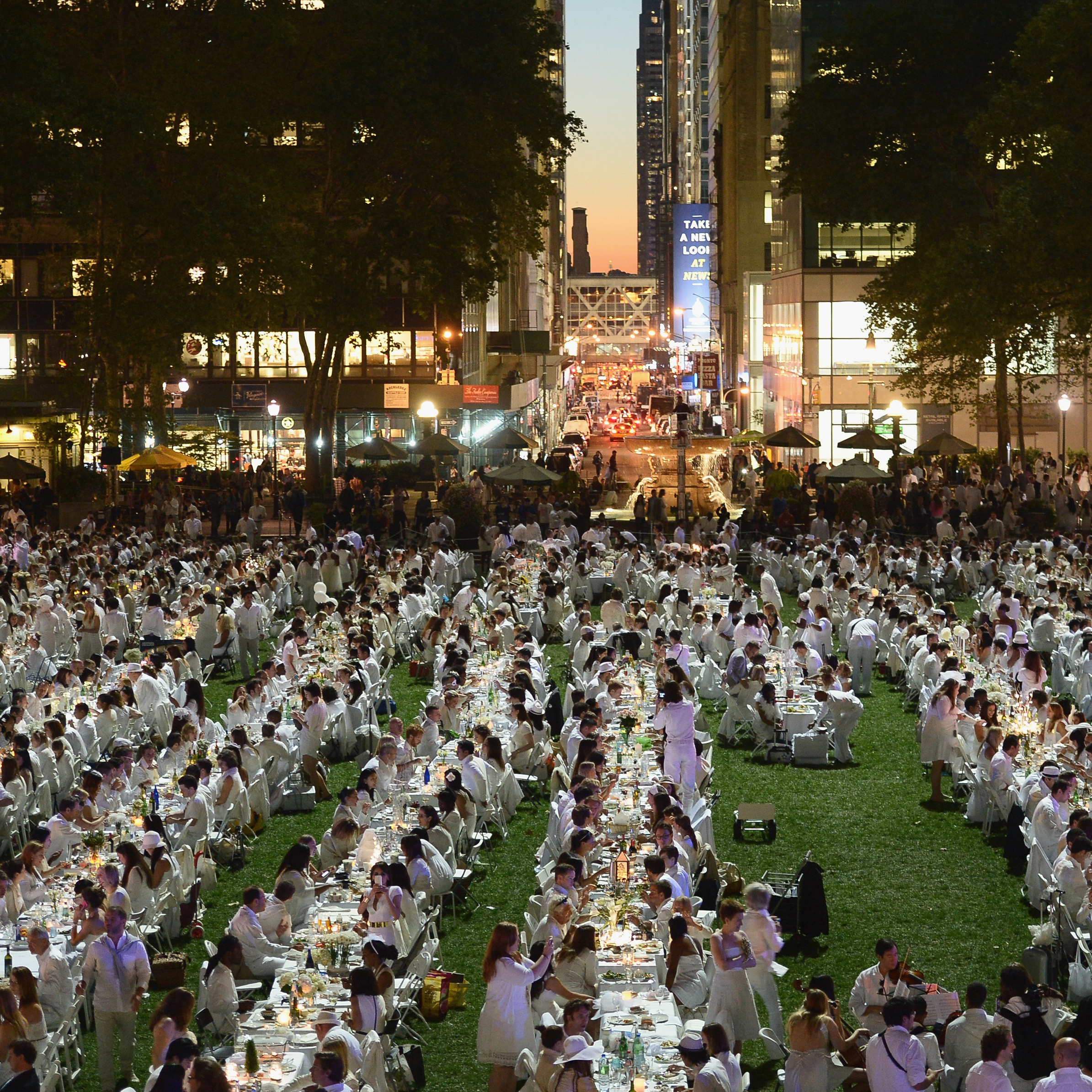 Thousands gathered for the 2013 Diner en Blanc in New York City this week. This year marks the 25th anniversary of the pop-up dinner event, which began in Paris.