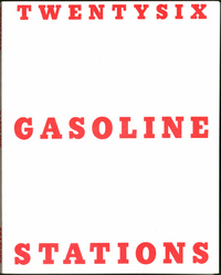 Twentysix Gasoline Stations is a small, thin paperback book resembling an old industrial manual -- just 26 black-and-white photos of gas stations.