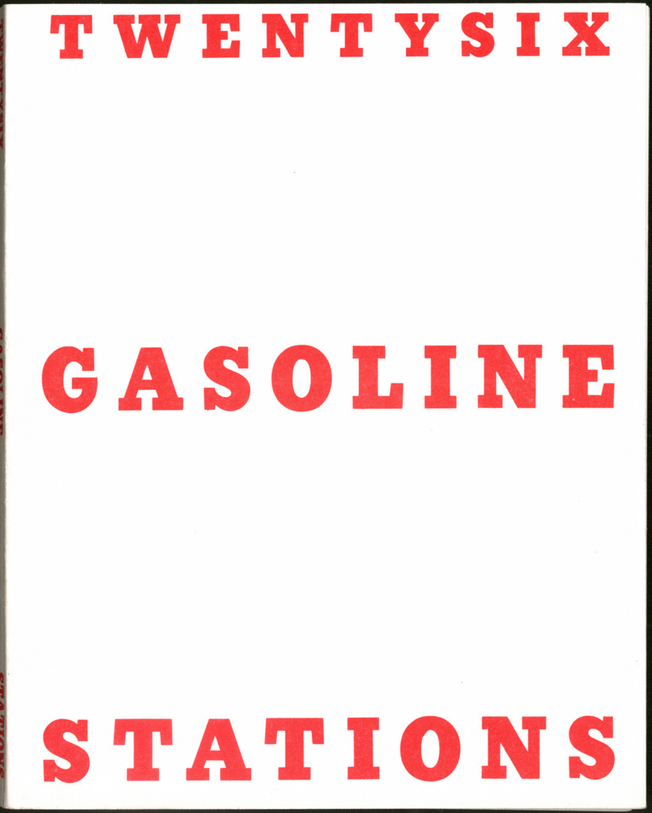 Twentysix Gasoline Stations is a small, thin paperback book resembling an old industrial manual — just 26 black-and-white photos of gas stations. (Courtesy of the artist and Gagosian Gallery)