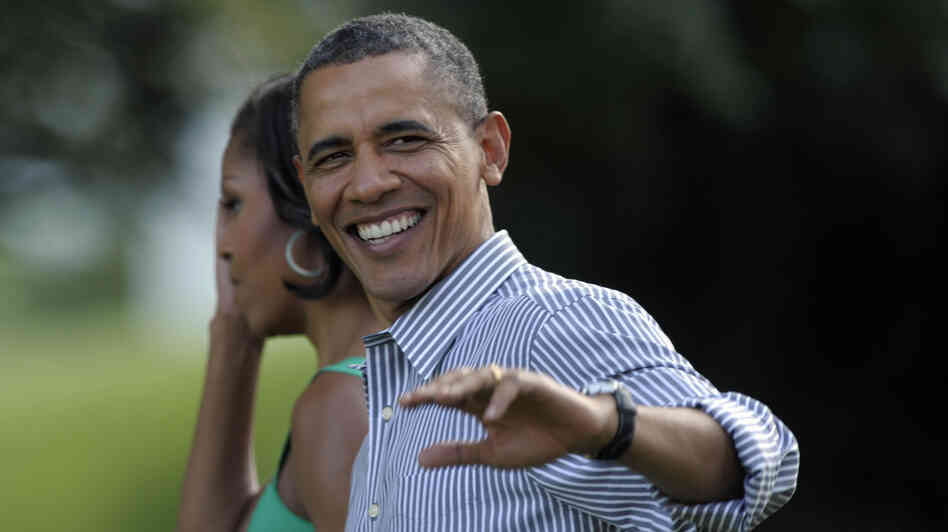 President Obama and first lady Michelle Obama arrive at last year's congressional picnic on th