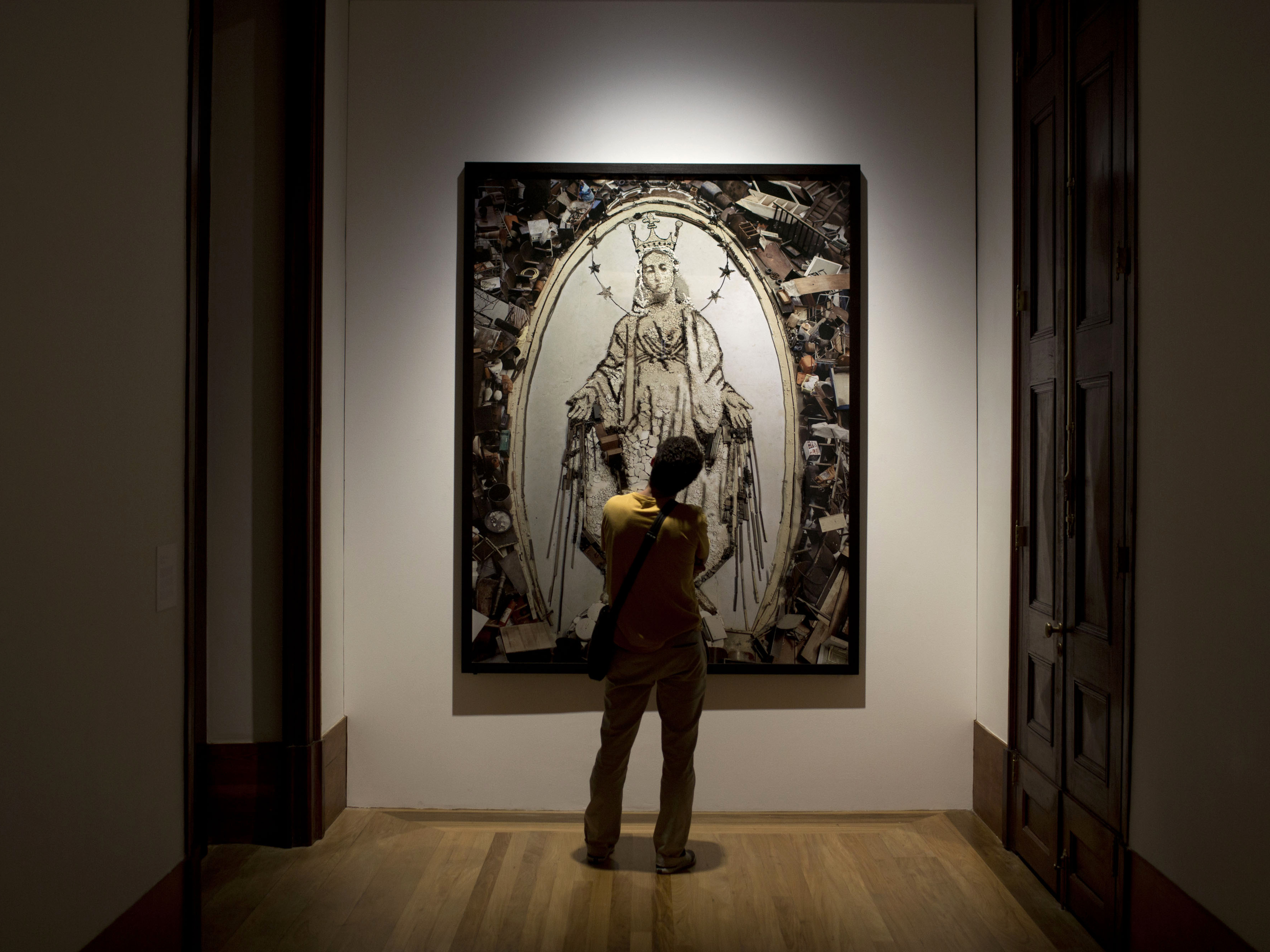 This photograph by Vik Muniz, titled Nossa Senhora das Gracas, at the Casa Daros museum in Rio de Janeiro, Brazil, in March.