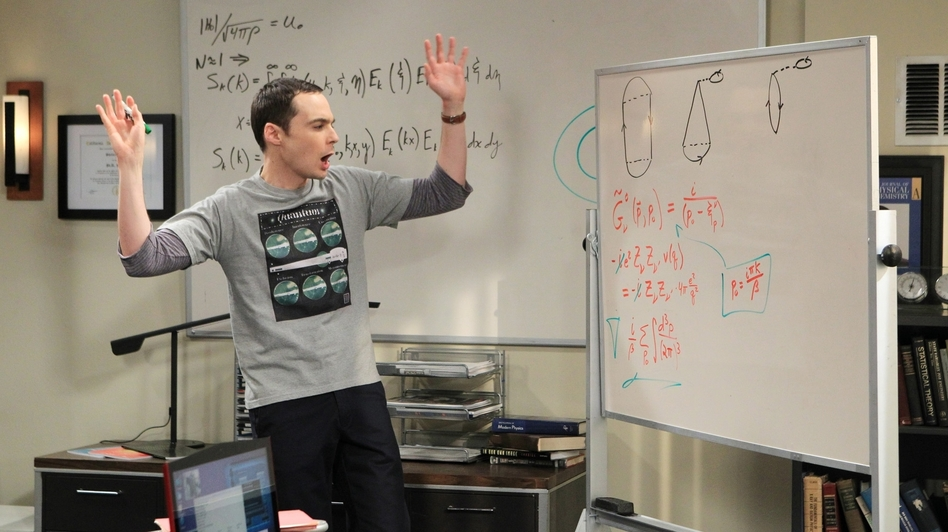 If the science that's so exciting to Sheldon (Jim Parsons) is right, it's because of David Saltzberg. (CBS)
