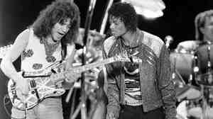 "Guitarist Eddie Van Halen came on stage during a Texas stop of Michael Jackson's 1984 tour to play on ""Beat It,"" the Jackson hit that featured a solo by Van Halen. Now, questions about a guitar that the two supposedly signed have led to the cancellation of an auction of Jesse Jackson Jr.'s goods."