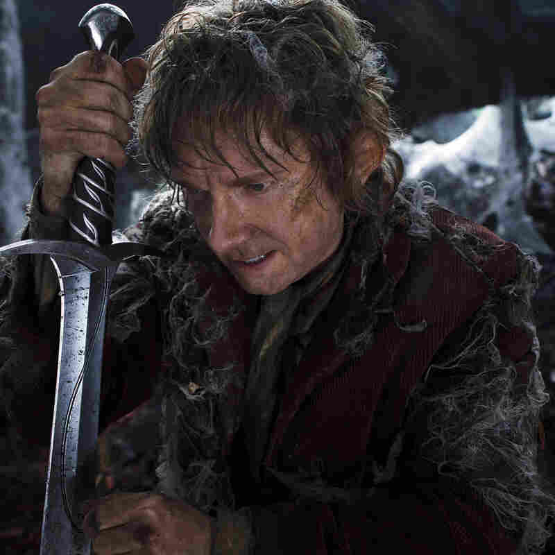Martin Freeman as the Hobbit Bilbo Baggins in The Hobbit: The Desolation Of Smaug.