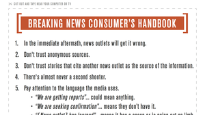 'On The Media' Presents: A Consumer's Guide To Breaking News