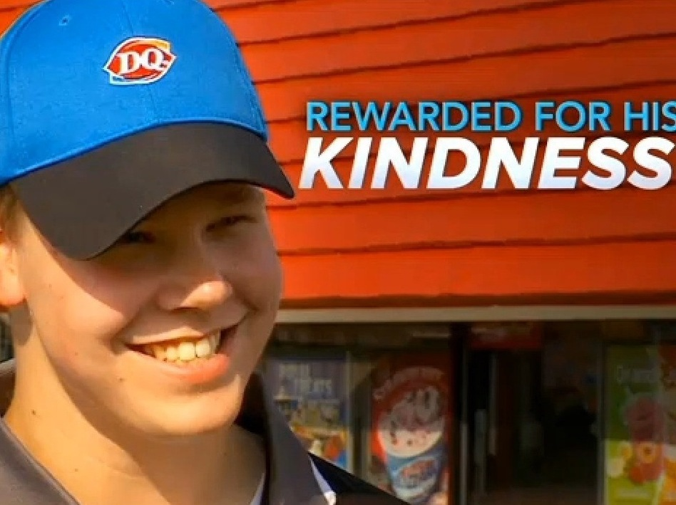 Joey Prusak has been a busy man since his act of kindness went viral. CBS Minnesota is among the TV outlets that have spotlighted his story.