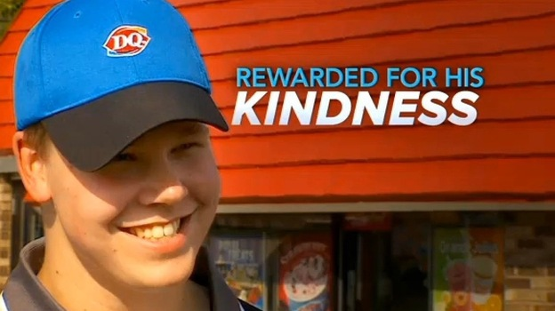 Joey Prusak has been a busy man since his act of kindness went viral. CBS Minnesota is among the TV outlets that have spotlighted his story. (Minnesota.CBSlocal.com)