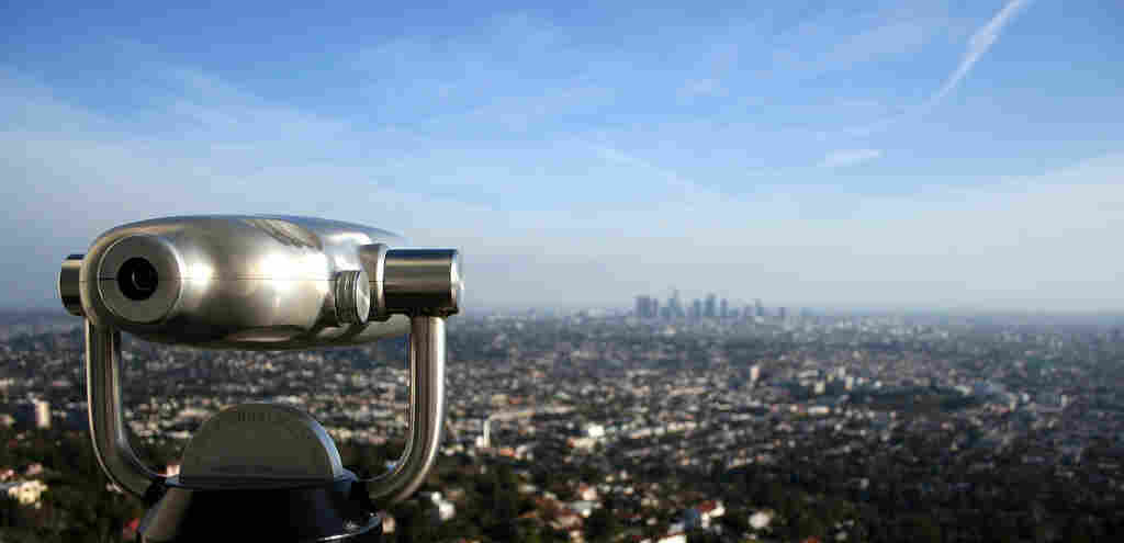 The weekend broadcast of All Things Considered has moved to Los Angeles. This view of the city comes from from Griffith Observatory.