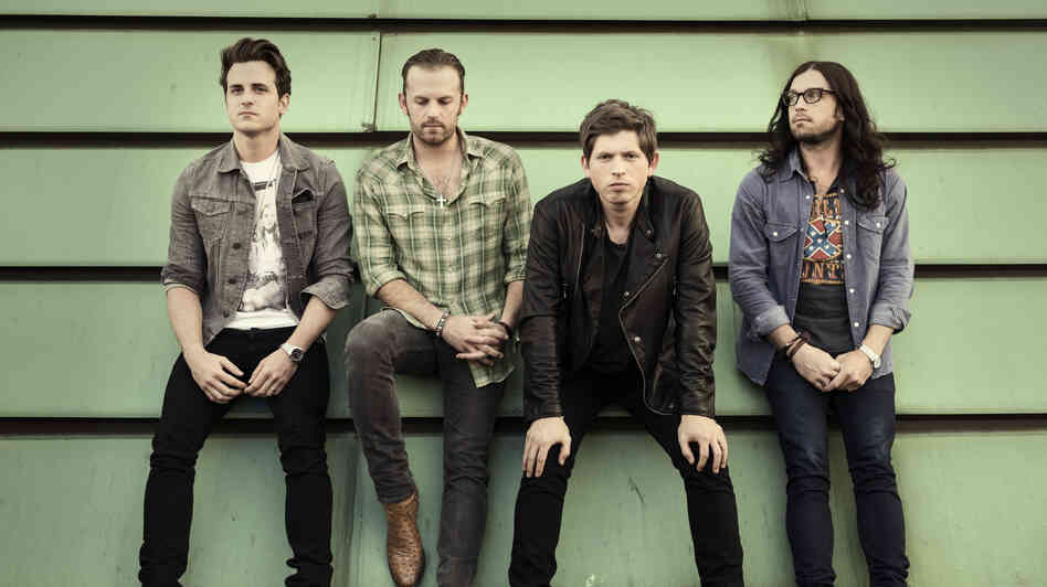 Kings of Leon, left to right: Jared, Caleb, Matthew and Nathan Followill.