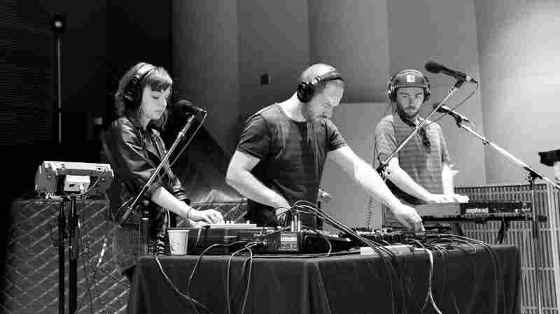 Chvrches in the studios of 89.3 The Current.