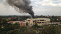 Heavy smoke rises from the Westgate Mall in Nairobi, Kenya, on Monday. The Somali militant group al-Shabab claimed responsibility for the attack.