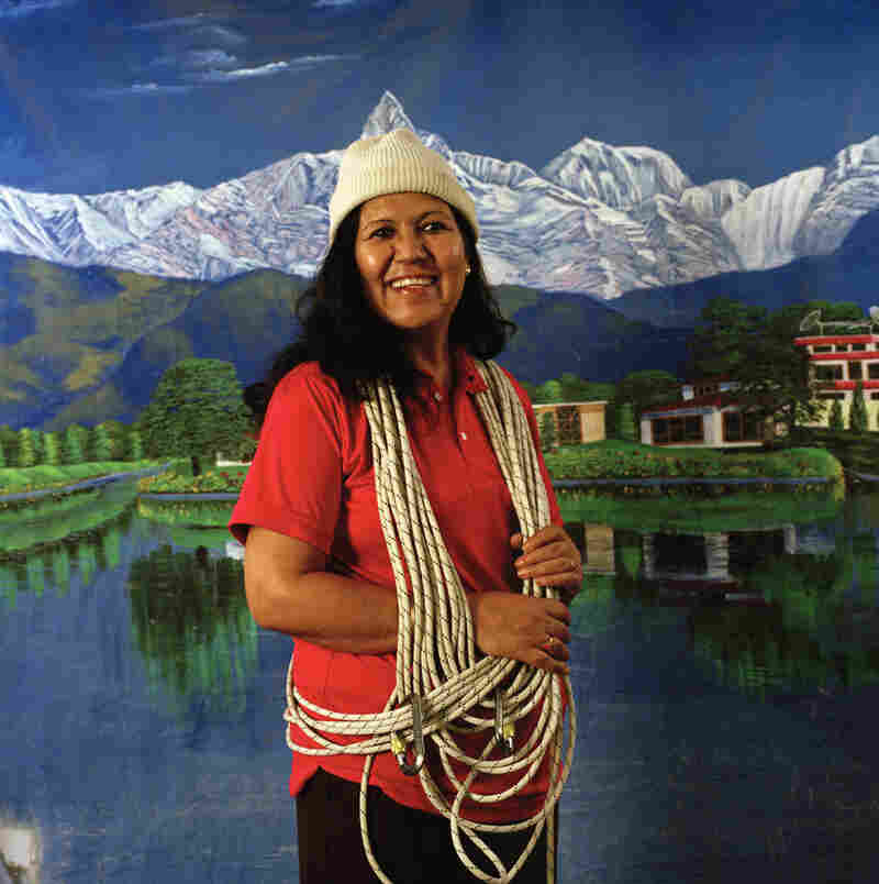 "Lucky Chhetri is the first Nepali woman to be a mountain guide, and is the founder of 3 Sisters Adventure Trekking, a group dedicated to providing female guides to female trekkers in Nepal. ""Trekking was a male dominated profession. Now the situation has changed and people recognize our work. Even beauty pageant contestants now ask me to become trekking guides."""