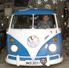 Enio Guarnieri of Sao Paulo, Brazil, in his 1972 Volkswagen. Soon, the last of the vans will be made in a nearby factory.