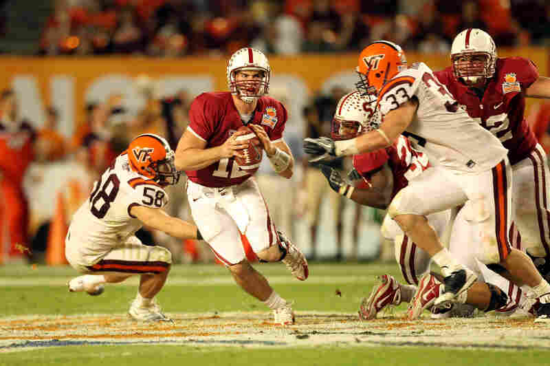 "When Stanford and Virginia Tech met in the Orange Bowl in January 2011, the game boasted the highest combined graduation rate in football bowl history. ""Neither the network nor the NCAA said anything about it,"" Easterbrook says."