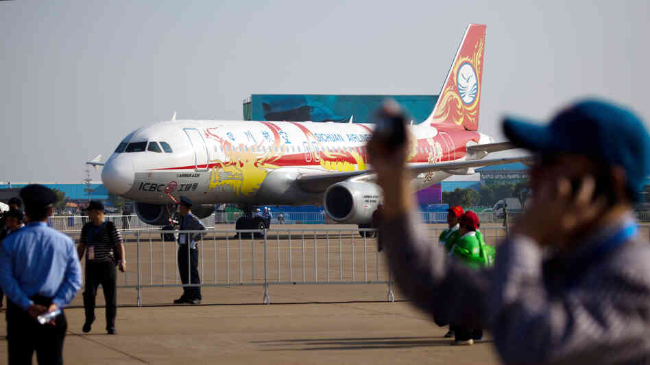 An Airbus A320 on display during Airshow China 2012 at China International Aviation Exhibition Center in Zhuhai on Nov. 13, 2012. Increasing prosperity and urbanization in China and elsewhere in Asia will drive the global demand for aircraft, Airbus said Tuesday.