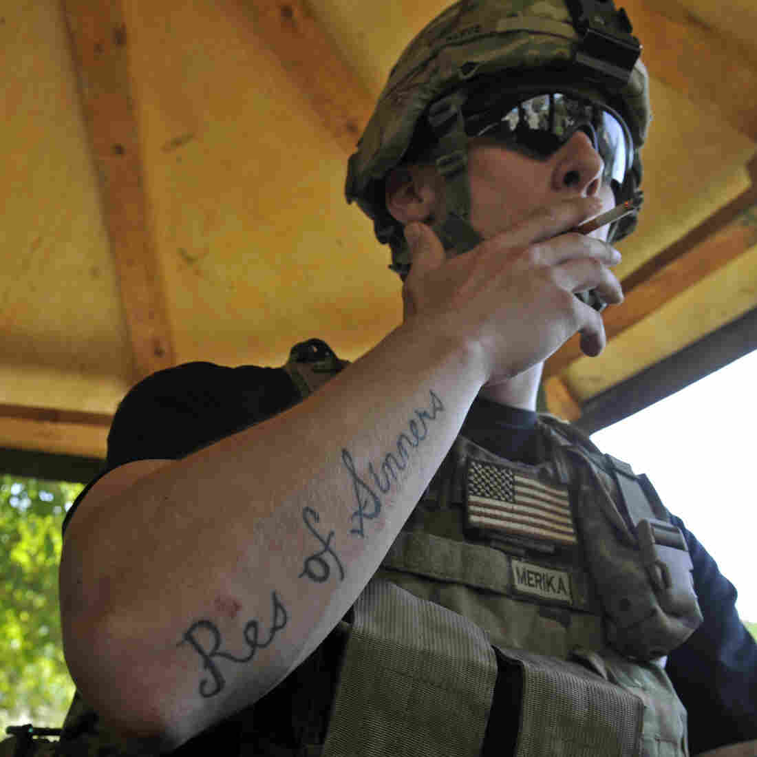 A U.S. Army soldier at Outpost Monti in Afghanistan's Kunar province, in Sept. 2011.