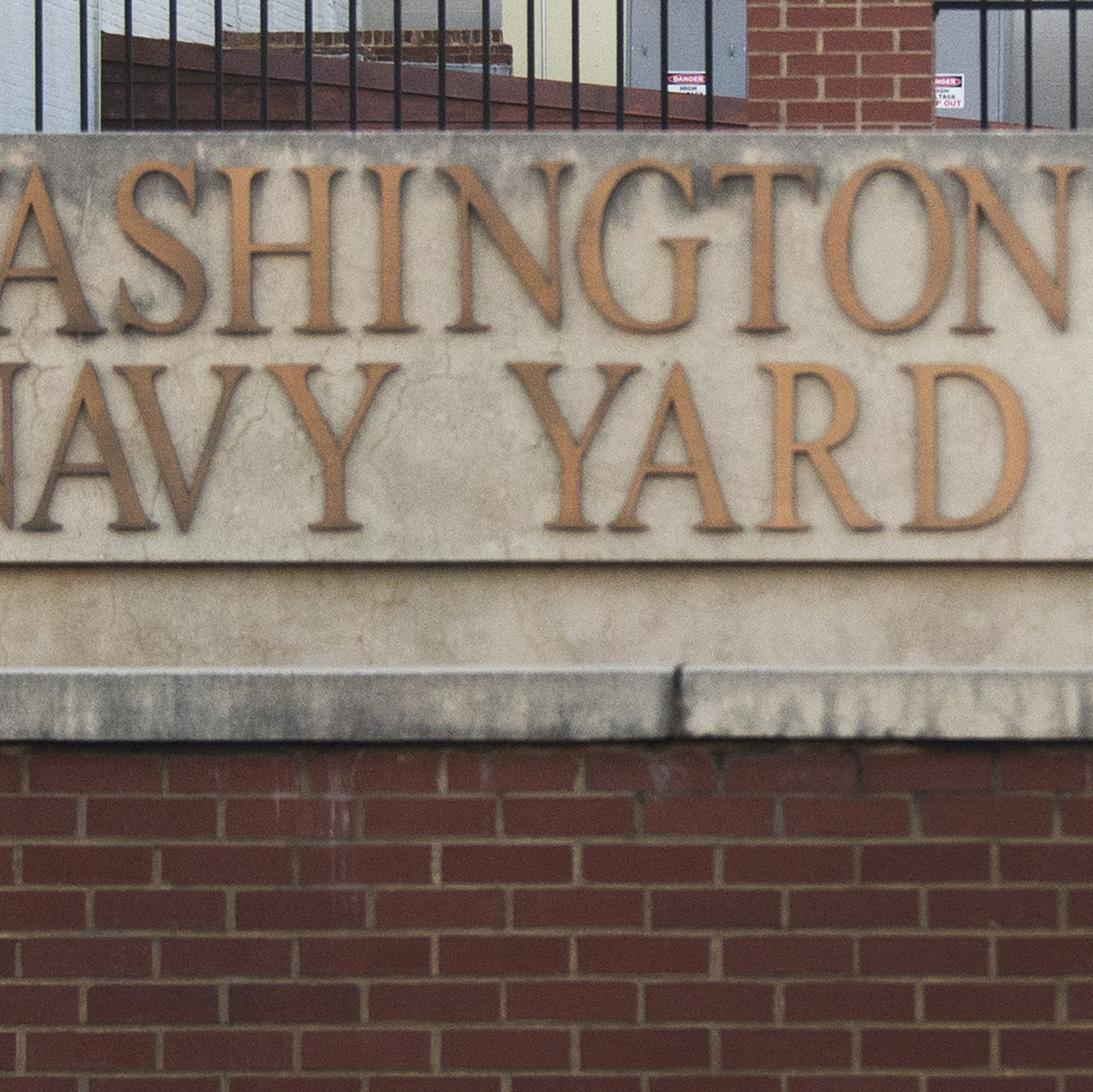 The front gate of the Washington Navy Yard.